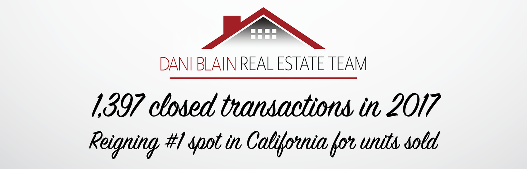 The Dani Blain Real Estate Team has closed over 1400 transactions so far in 2018!