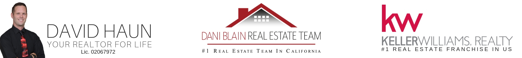 The Tulare County Real Estate industry is led by Keller Williams, the Dani Blain Real Estate team, and your agent of choice - David Haun.
