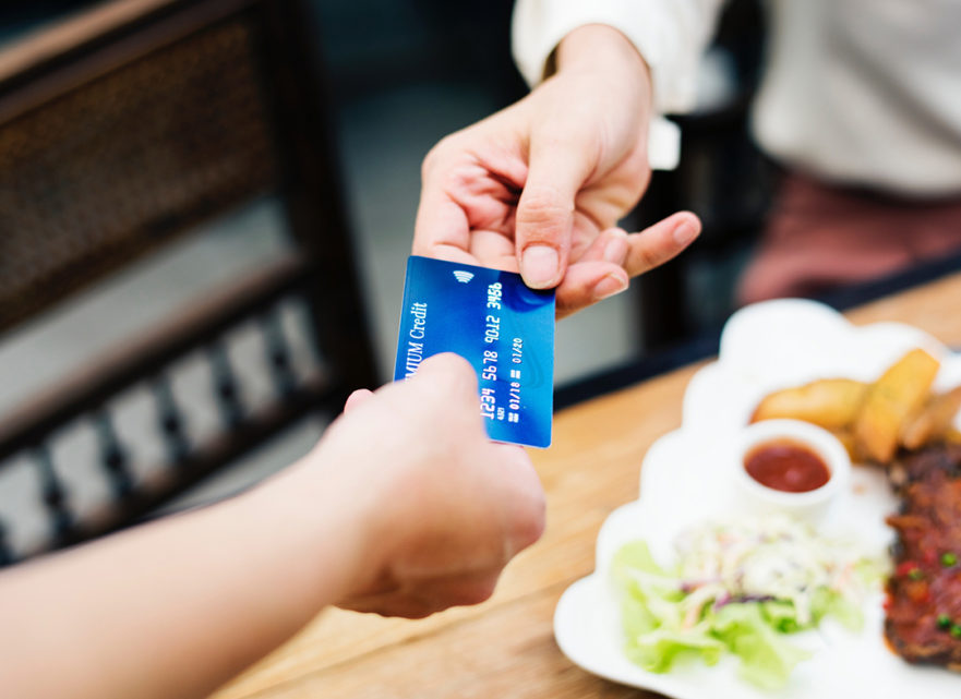 using one credit card regularly